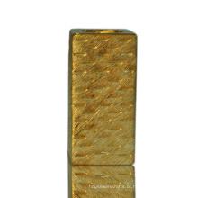 Castiçal de cerâmica de chapeamento de ouro personalizado resistente ao calor grossistas