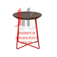 Industrial Red Stool