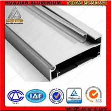 Perfiles de aluminio anodizado para uso de muebles