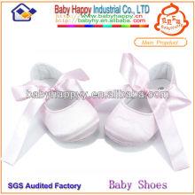 Zapato de bebé único 2014 de los zapatos de bebé suave