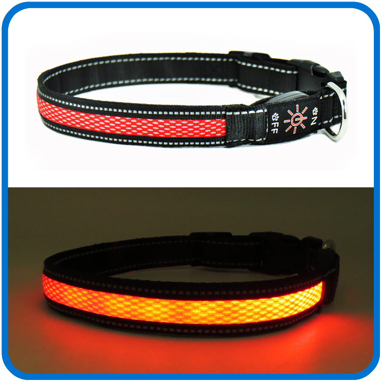 Borong Led Florescent Light Up Dog Collars