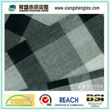 Tela de algodón teñido con hilados de pequeño cheque