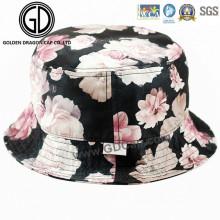 2016 Beautiful New Style Colorful Flower Pattern Cotton Bucket Hat