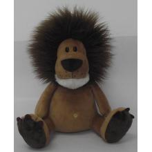 Long hair lion plush toy doll