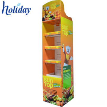 Portable Retail Cardboard Magazine Display Rack