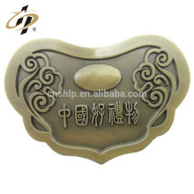 Personalizado China lembrança metal 3D bronze antigo elenco medalhão