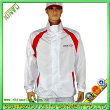 OEM Sportswear Screen Printing White Jacket