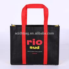 La bolsa de asas no tejida reciclada al por mayor reutilizable de encargo para la promoción, regalo, supermercado de las compras