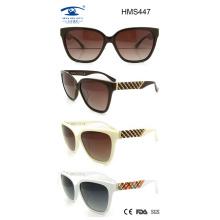 Señora estilo gafas de sol de acetato hecho a mano (hms447)