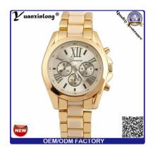 Yxl-770 acero inoxidable Backcase cronógrafo reloj coloridos silicona banda reloj hombres Wathces
