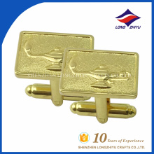 Wholesale custom gold plating square cufflinks with logo