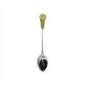 Kundengebundener Goldbronze-Silber-dekorativer Tee-Löffel