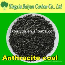 Carvão fixo de carvão antracite 90% carbono para tratamento de águas residuais