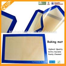 China Professional Hersteller BPA Free Multifunktions-Food Grade Hitzebeständige Antihaft-Fiberglas Silikon Backmatte
