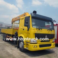 Howo 14 ton Stiff Boom Truck Crane For Sale