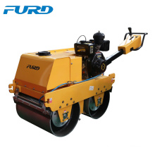 Road building machine double drum hand operated vibratory roller for sale (FYLJ-S600C)
