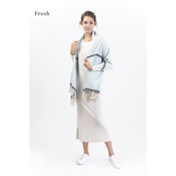 Cachecol Herribone Fresh-100% Cashmere Yarn Dye