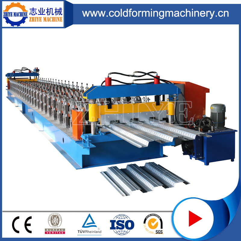 Energy-efficient floor decking roll forming machine