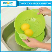Neway rodada sobrejacente prato de fruta de plástico