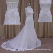 Bande de volant chatoyante dernières robes de mariée en cristal sexy