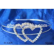 Nueva corona de la boda del rhinestone de la venta al por mayor de la manera en tiaras