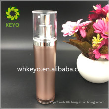 60ml acrylic airless pump bottle High quality rose gold cosmetic packing bottle