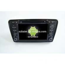 Quad core android,Hot sell!! dvd car audio navigation system,Bluetooth,MIRROR-CAST,AIRPLAY,DVR,SWC for skoda octavia 2013