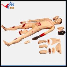 HR / J110 Fortgeschrittene Trauma Nursing Manikin Silikon Schaufensterpuppe