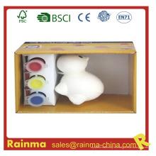 Pintura de la acuarela de la porcelana del animal de DIY para los cabritos