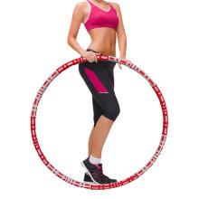 Cerceau d'exercice de fitness lesté pour adultes et débutants Cerceaux d'exercice de sport pour perte de poids Conception amovible Équipement d'entraînement pour femmes Hommes