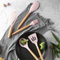 Non-Stick Silicone Beech Wood Handle Kitchen Utensils Set