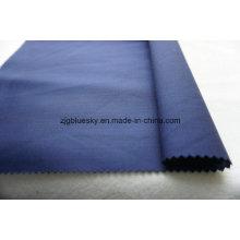 Tecido liso azul da lã do Weave