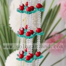 Crystal Red Blue Color Acrylic Beads Curtain For Decor