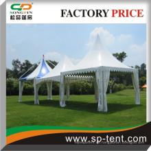 Pagode Pavillon Hochzeitsfest Zelt 6x6m aus dauerhaften Aluminium Rahmen für Outdoor-Hochzeitszeremonie Veranstaltung