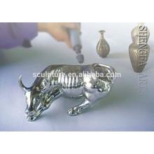 Art moderne, animaux, artisanal, artisanat, statue, intérieur, décoration, acier inoxydable, sculpture