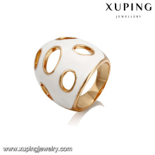 14407 Xuping Jóias de moda novo design 18 K banhado a ouro anel popular
