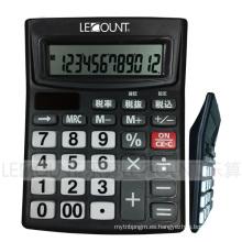 12 dígitos Calculadora de escritorio de doble potencia con función de apagado automático (LC240BK)