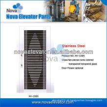 Porta de elevador semi-automática para portas de elevador residenciais