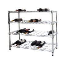 Adjustable DIY Chrome Metal Wine Rack Holder Shelf, NSF Approval