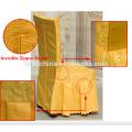 Hochwertige waschbare Jacquard-Stoff Polyester Restaurant Stuhl Abdeckungen