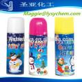 Großhandel umweltfreundliche farbige künstliche Schneespray Fabrik