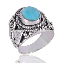 A fantastic Arizona Turquoise Ring made in 925 Silver Antique Design