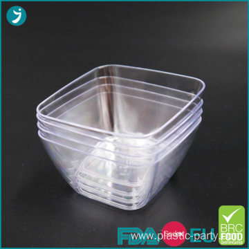 Disposable Plastic Dessert Bowl Square Mini