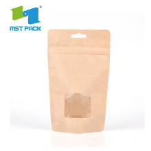 Bionedbrytbar Brown Kraft Paper Coffee Packaging Bag
