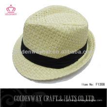 Chapéus de palha para homens baratos Chapéu de Fedora de palha de papel
