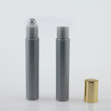 10ml Wholesale Silver Plastic Bottle Roller Bottle with steel Roll and Aluminum Cap
