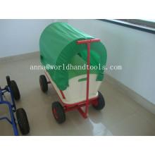 Kinder Red Wooden Wagon mit Baldachin Tc1812m für Kinder