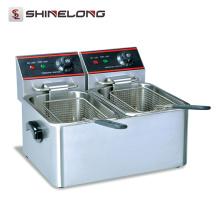 Friteuse électrique électrique générale de partie supérieure du comptoir commerciale 4L peut frire divers de la friteuse profonde multifonctionnelle de nourriture