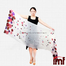 Quality Guaranteed Lightweight Pure Cashmere Polka Dots Long Wide Shawl Scarfs for Girls