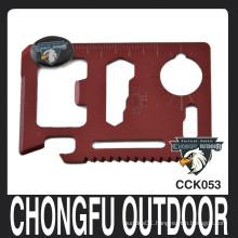 credit card red 4.5*6.8 cm pocket knife
